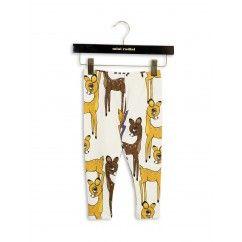1673014416 minirodini roe deer leggings brown printed legging herten bruin geel jongen meisje unisex lange broek bon bon bleu