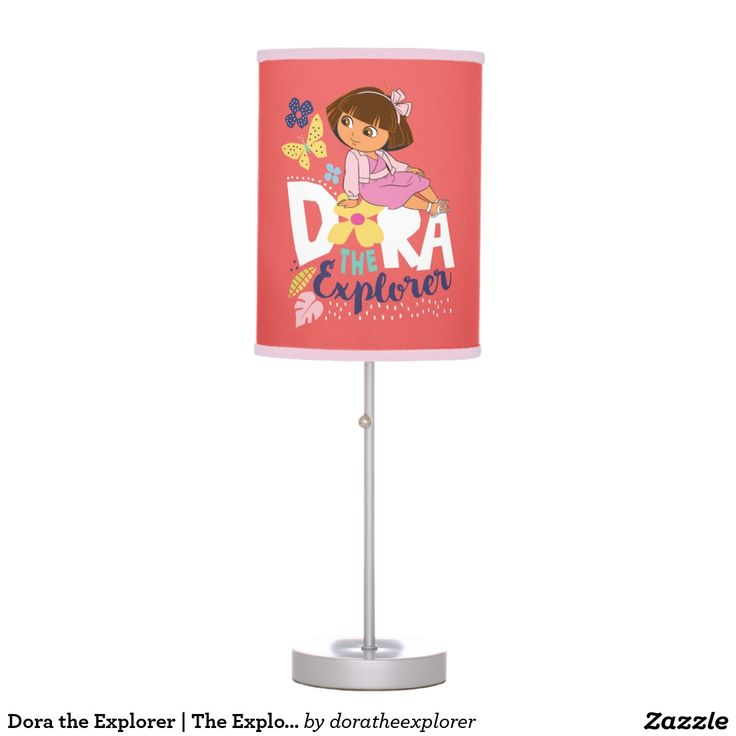 Dora the Explorer | The Explorer Desk Lamp dora the explorer, nickelodeon dora, nick jr, the monkey, childrens show, childrens tv show, nickelodeon cartoon, rainforest, tropical, kids