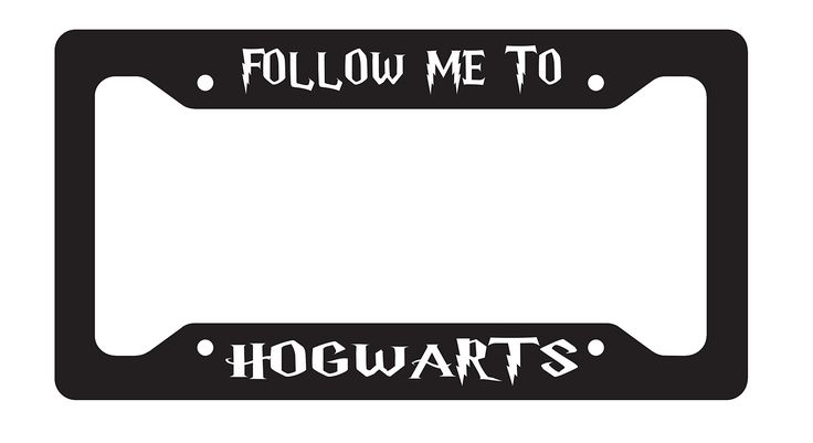 "Follow Me To Hogwarts License Plate Frame Sublimation Printed All Breeds Available. We offer three choices of license plate frames come in .030 gauge aluminum sublimation printed to last for years, ABS plastic for cars of trucks and ABS plastic for motorcycles/mopeds. Will not fade or rust. Pre-drilled, Screws available from any car parts store or local hardware store. Lightweight, durable and will not rust.Frames are 6.5"" x 12.25"" x .030."" Fully customizable just shoot us an email with…"