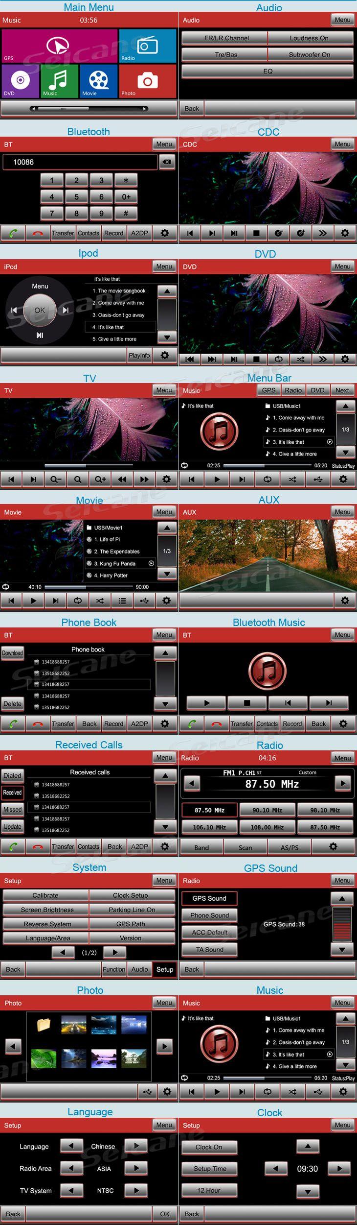 GMC Yukon Denali leitor de DVD Sistema de Navegação GPS com Rádio tv bluetooth