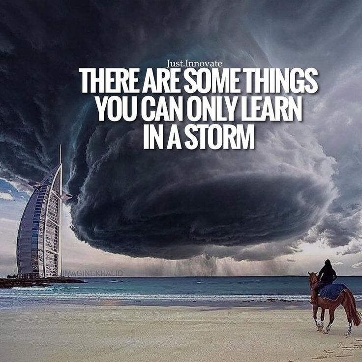 There are some things you can only learn in a storm! by just.innovate