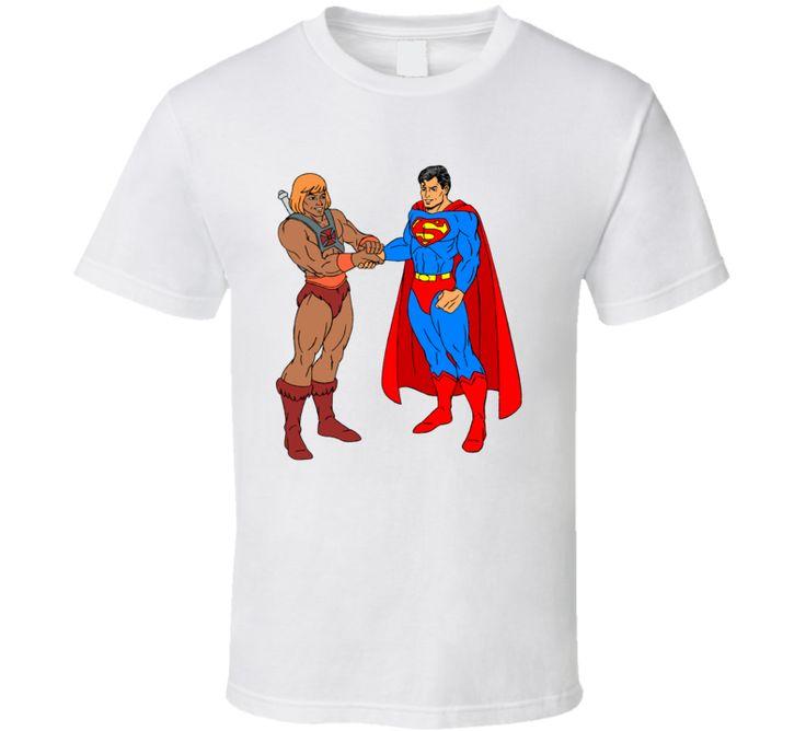 He Man and Superman T Shirt