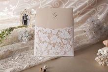 Amantes QUENTES-estilo Convites de Casamento De Renda Com Personalizar a Impressão com Strass (Conjunto de 200) UPS DHL FEDEX emsfree Envio