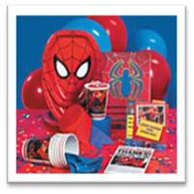 Save yourself time and money with a Spiderman Party Pack - tableware, decorations and party bags for 16 kids.