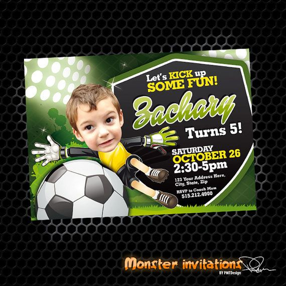 Soccer Invitation Soccer Party Soccer by MonsterInvitations