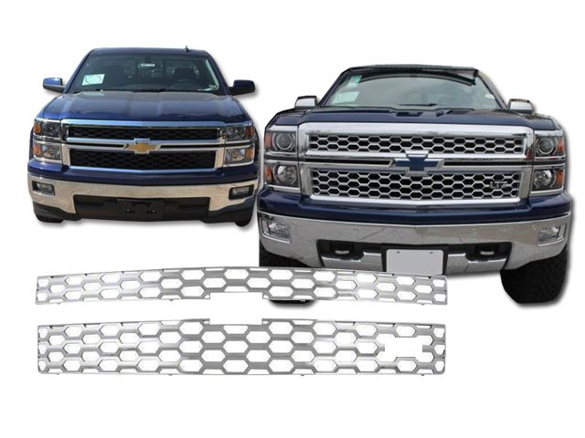 2014 2015 Chevy Silverado 1500 Chrome Snap-On Grille Overlay by CCI