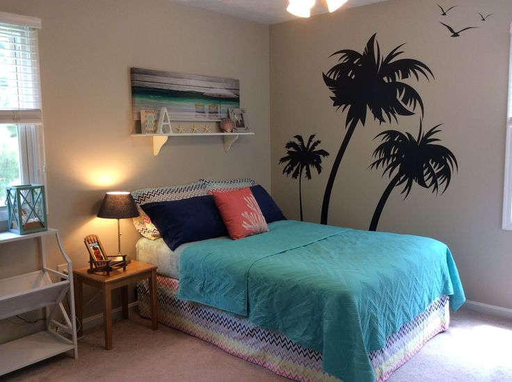 Room update for teen girl. Beach theme with lots of Pinterest inspiration!