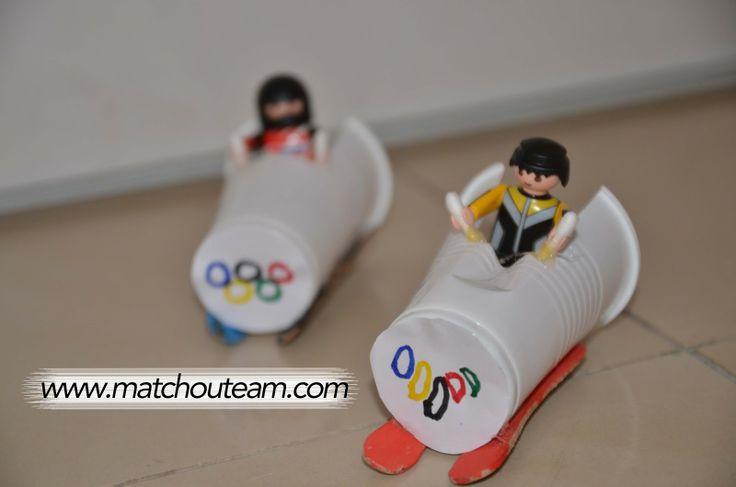 www.matchouteam.com Bobsleigh olympique pour mes Playmobils       un jouet rapide à fabriquer et amusant!!