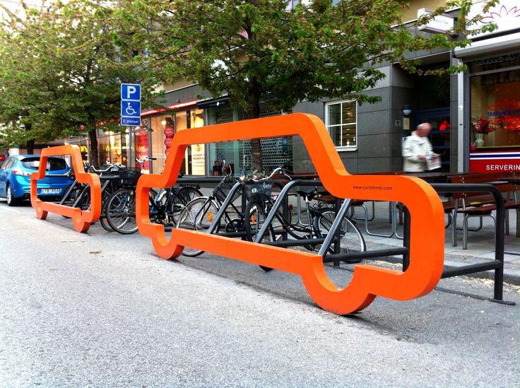 The #bikerack converts one #car space into cycle parking for 10 bicycles. Check out www.castit.ie for more information.