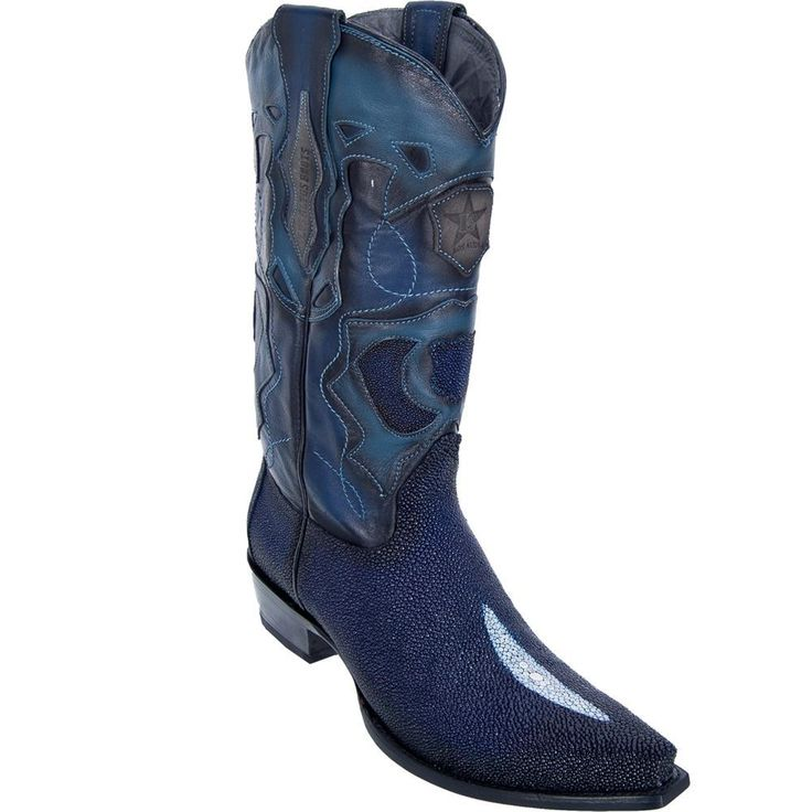 georgetowncowboyboots - Los Altos Boots Snip Toe Stingray Mens Cowboy Boots Single Stone Navy Blue, $365.00 (http://www.georgetowncowboyboots.com/los-altos-boots-snip-toe-stingray-mens-cowboy-boots-single-stone-navy-blue/)