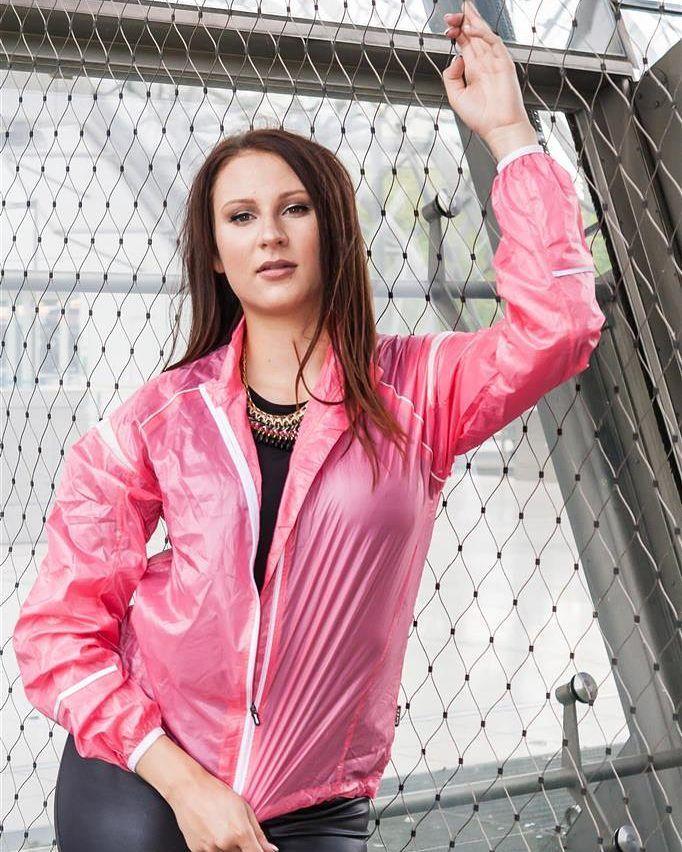 Spandexplanet On Instagram Pink Shiny Nylon Jacket