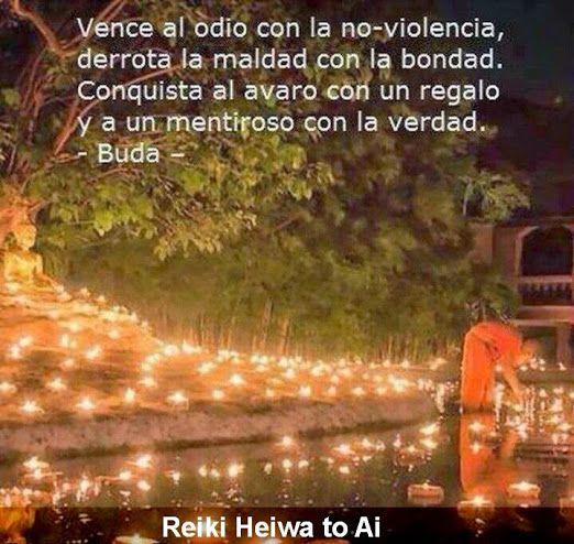 Vence el odio con la Paz, derrota la maldad con la benevolencia, conquista al avaro con la generosidad y al mentiroso con la Verdad Una