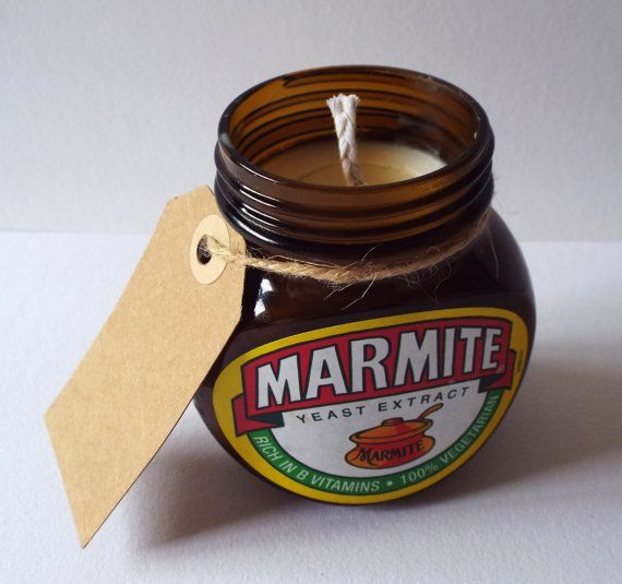 Marmite Jar Candle by VanHound on Etsy
