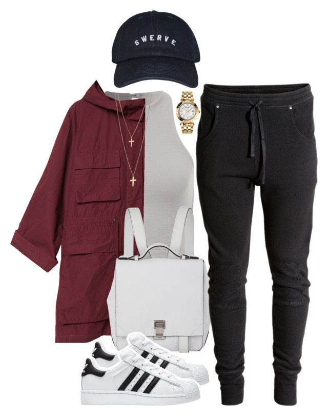 """""""sweats"""" by xshe-hood-thox ❤ liked on Polyvore featuring Monki, Proenza Schouler, adidas and Versace"""