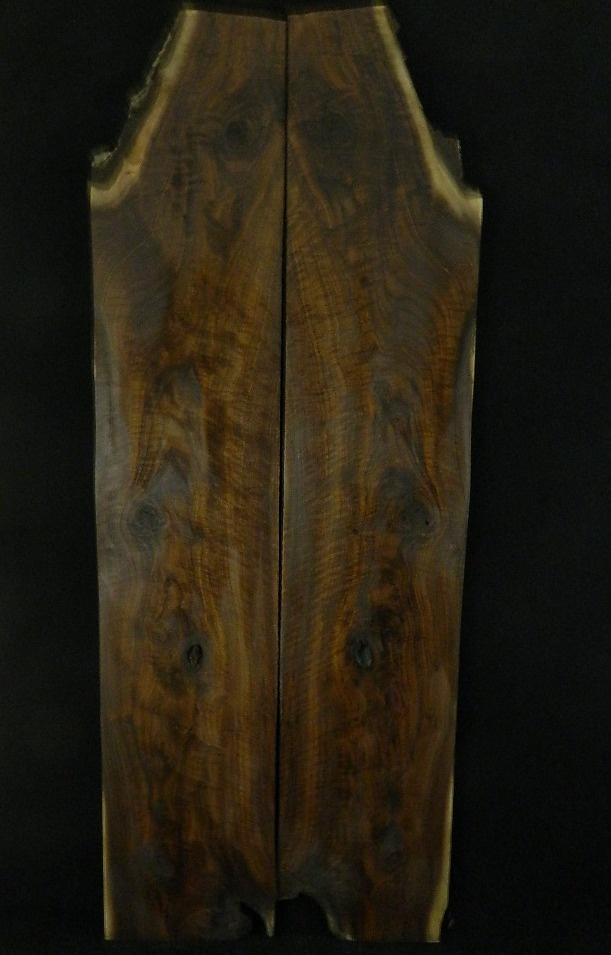 Black Walnut Figured Bookmatch Table Top Slab 791 | Walnut Natural Edged Slabs | Figured Black Walnut Lumber, Live Edge Furniture, Spalted Maple Slabs, Gunstock Blanks, Bookmatched Dining Table Top Sets, Bar Countertops, Natural Edge Burl Wood, The Lumber Shack