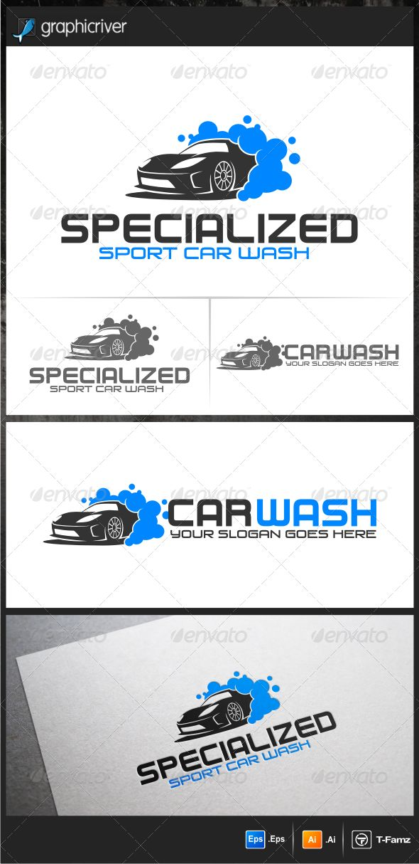 Sport Car Wash Logo Templates — Vector EPS #sport car #vector • Available here → https://graphicriver.net/item/sport-car-wash-logo-templates/5543247?ref=pxcr