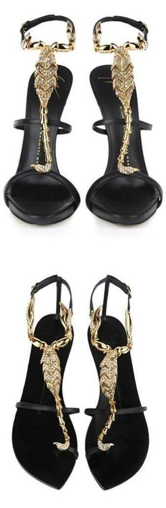 Giuseppe Zanotti scorpio jewel heels and flats | LBV ♥✤ | KeepSmiling | BeStayElegant