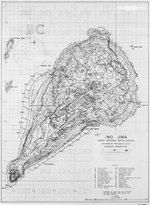 Contour map of Iwo Jima, showing Japanese defense installations as observed from ground study during the period of 19 Feb-19 Mar 1945, map 1...