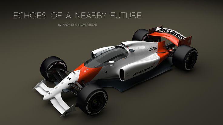 McLaren-Honda Formula 1 Concept with closed cockpit on Behance