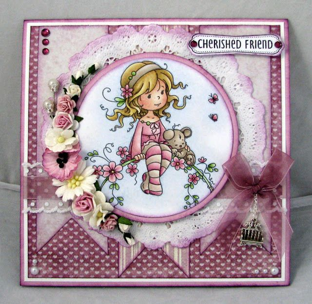 Lena Katrine`s Scrappeskreppe: Special Guest at Whimsy Stamps Magazine - 1th Project