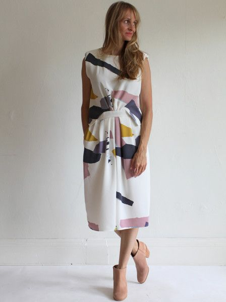 Rachel Comey Delane Dress Collage Print Wear Pinterest Dresses Fashion Outfits And