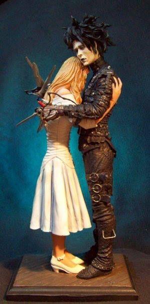 Edward Scissorhands: Kim and Edward statue by GabrielxMarquez