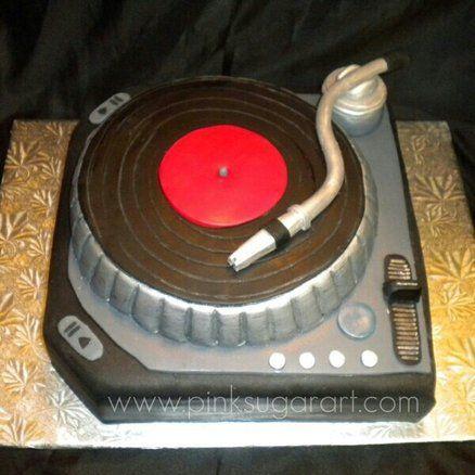 DJ Turntable Cake Cake by PinkSugarArt