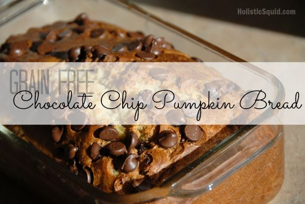 Grain Free Pumpkin Bread with Chocolate Chips