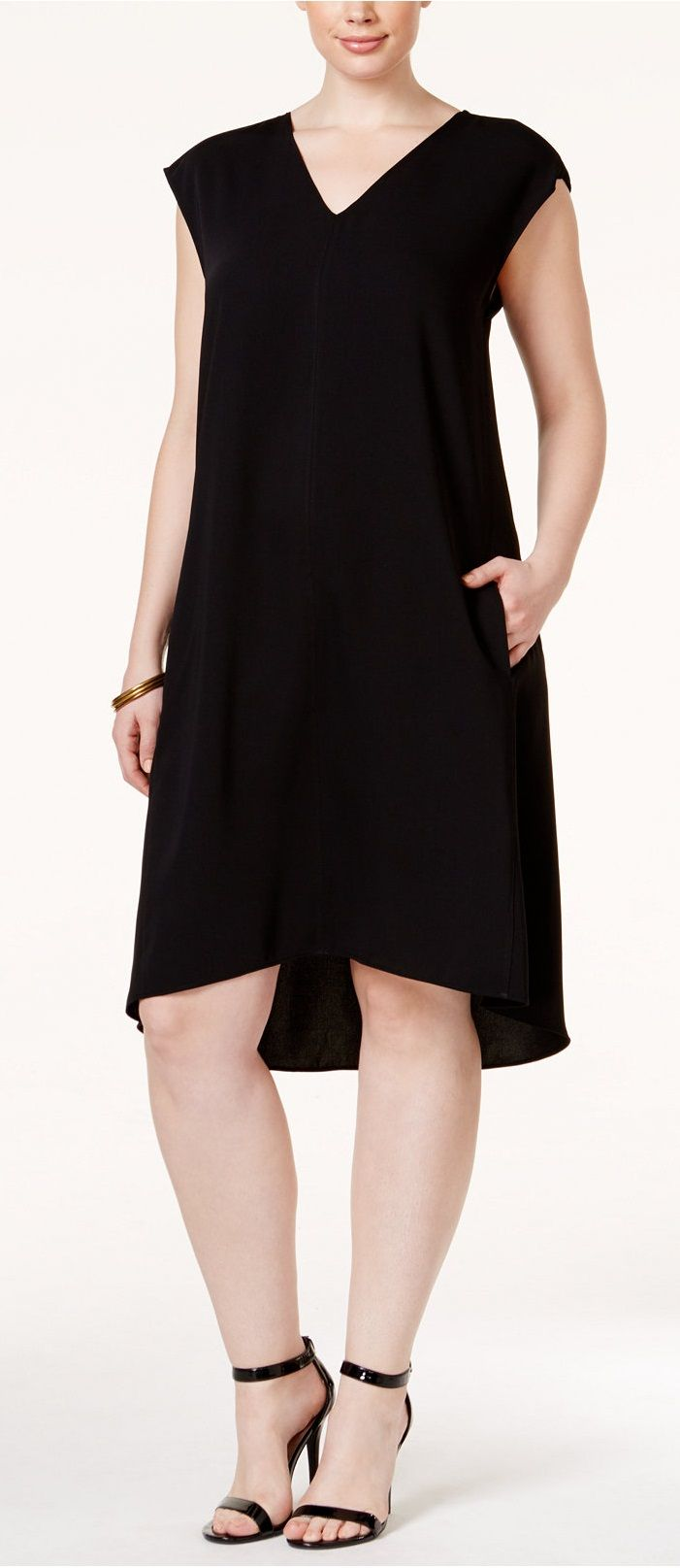 Plus Size Asymmetric A-Line Dress