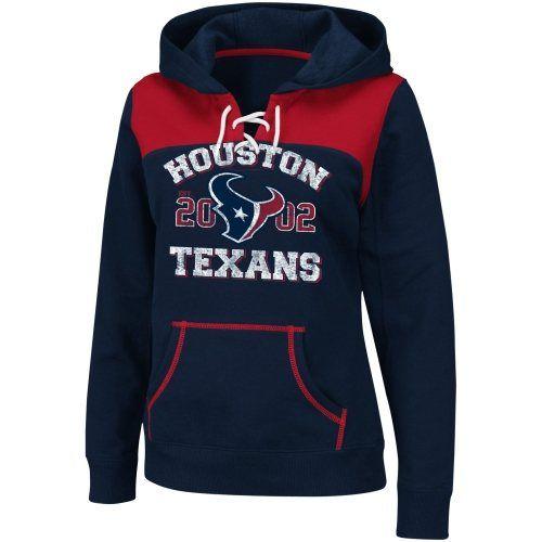 Houston Texans Ladies Preseason Favorite III Pullover Hoodie - Navy Blue