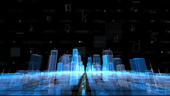 Hologram City by mohanpatil Full HD 1920x1080, 30 sec animation. Camera pass through city animation
