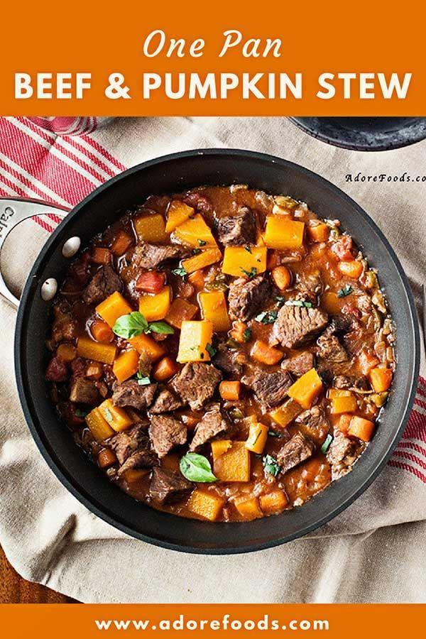Vietnamese One Pot Beef And Pumpkin Stew Recipe Pumpkin Stew Stew Recipes Beef Soup Recipes