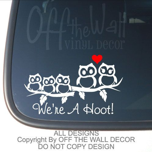 Best Stikers Images On Pinterest Vinyl Decals Car Stickers - Owl family custom vinyl decals for car