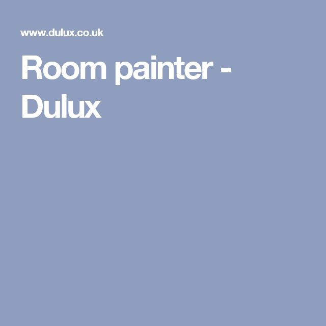Room painter - Dulux