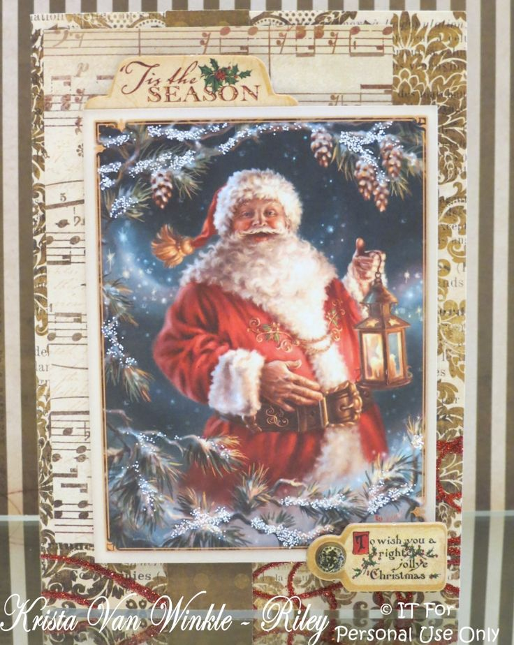 Krista's Creative Korner: It's a BLOG HOP! Come check out the new Vintage Santa Card Toppers by Flower Soft!: Crafts Cross Stitch, Vintage Santa, Enchanted Christmas Chart, Christmas Counted, Earth Counted