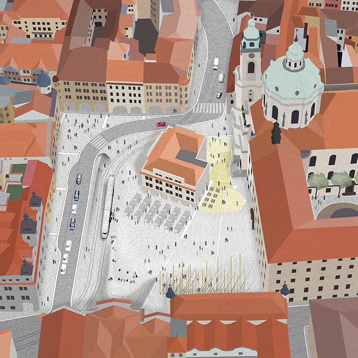 Competition for a new public square, Lesser Town Square, Prague
