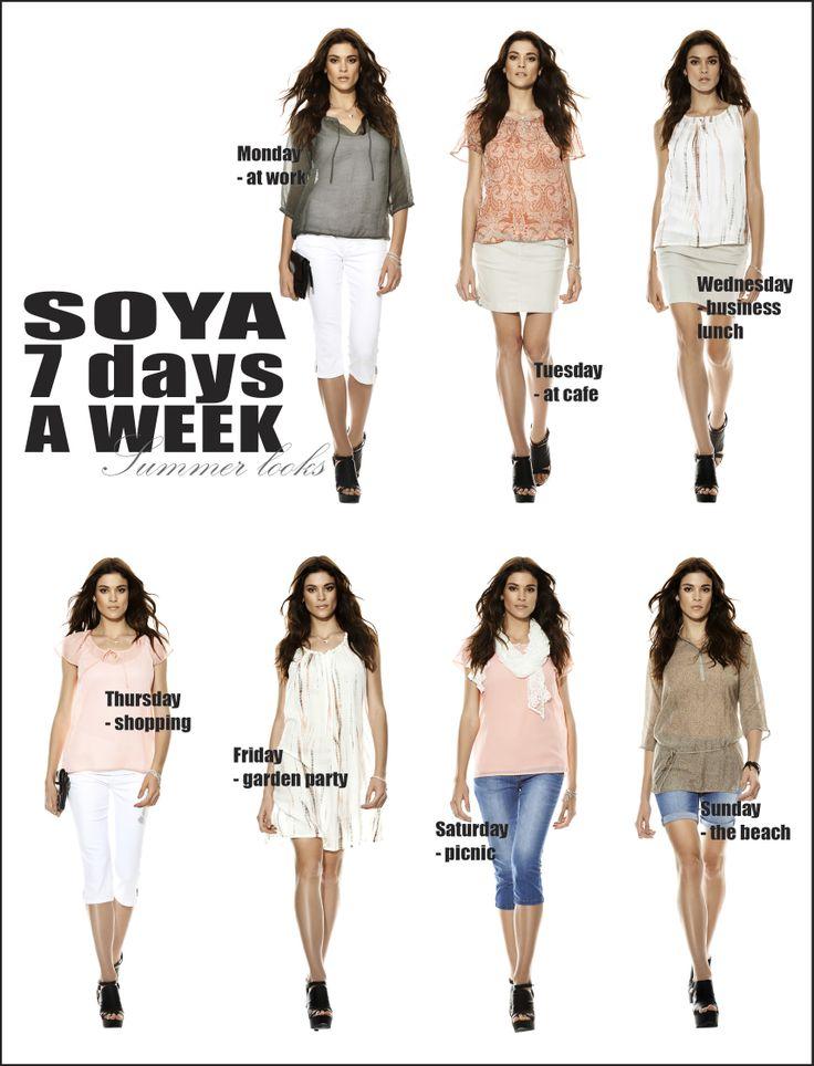 soyaconcept - top - pants - skirt - blouse - dress - scarf - jeans - shorts - belt