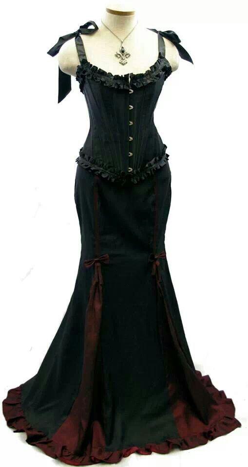 Gorgeous blahttps://www.pinterest.com/caspersgirl15/dresses/ck corset fishtail skirt