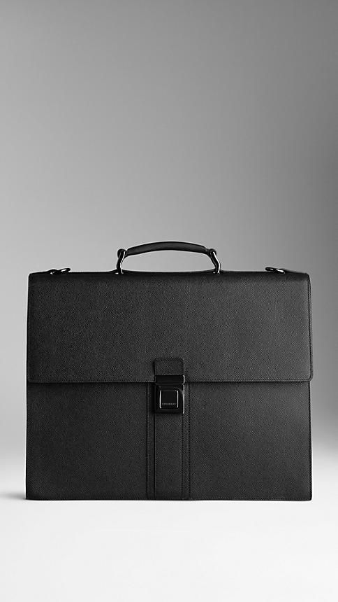 London Leather Briefcase | Burberry