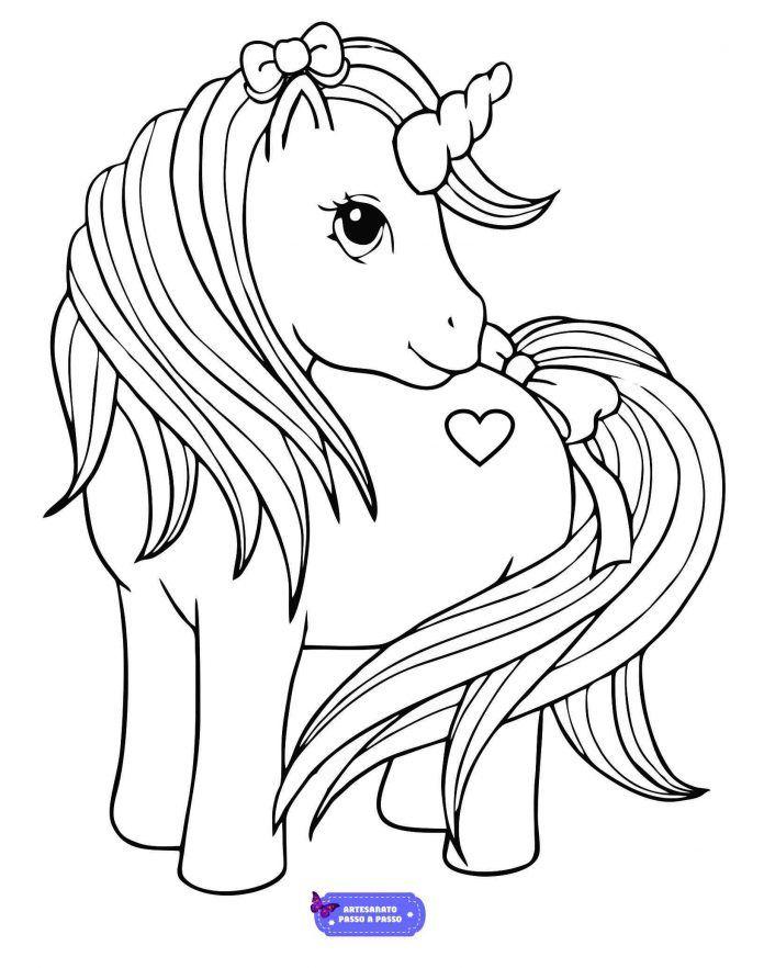 Desenhos Para Pintar E Imprimir Infantil Com Imagens Unicornio