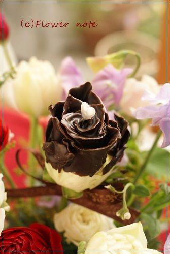 【今日の贈花】Flower note の フラワーバレンテイン(チョコ)http://ameblo.jp/flower-note/entry-11989754928.html