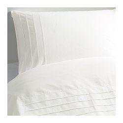 ALVINE STRÅ Duvet cover and pillowcase(s) - white, Full/Queen (Double/Queen) - IKEA