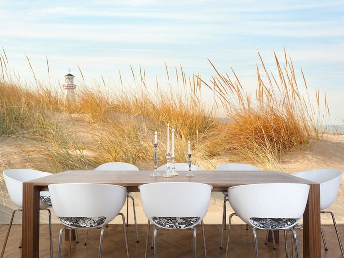 beach scene in michigan wall mural for dining room design the spirit of wall murals nature - Wall Mural Designs Ideas