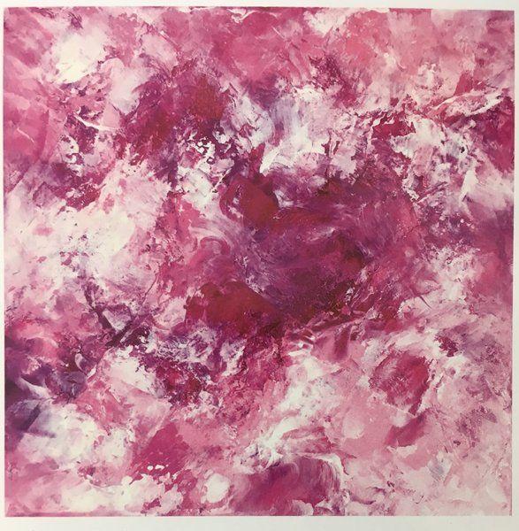 "Brigitte Balbinot, Adagio Limited Series of 9, oil on canvas, 12"" x 12"" each"