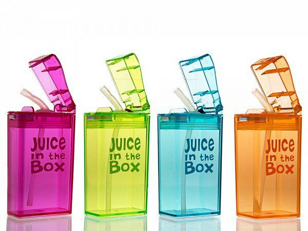 I love this idea of reusable juice boxes from Juice in the Box @thegrommet