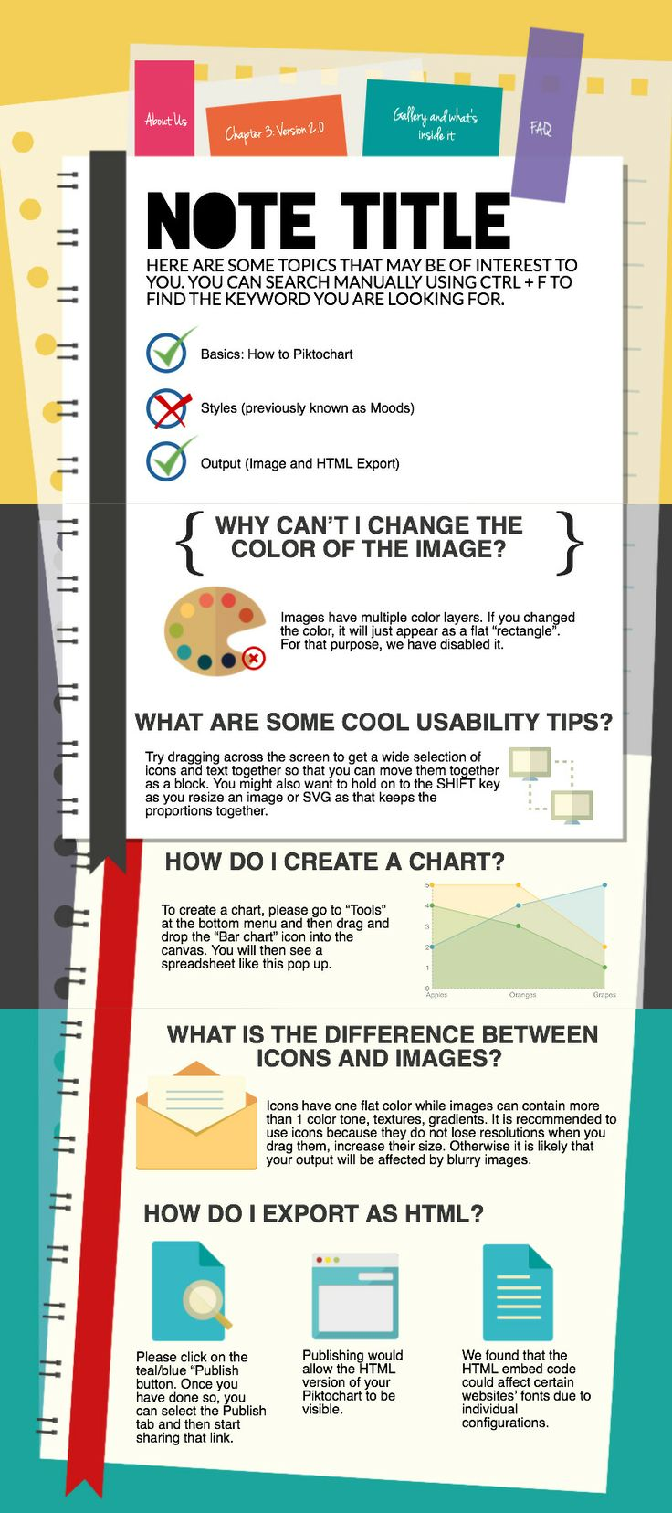 Revamped notebook-style infographic template, PRO 'The ...