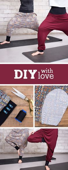 802 best crafts images on pinterest diy jewelry bricolage and nhanleitung fr eine gemtliche haremshose yogapants selbermachen diy sewing pattern for comfy yoga pants solutioingenieria Gallery