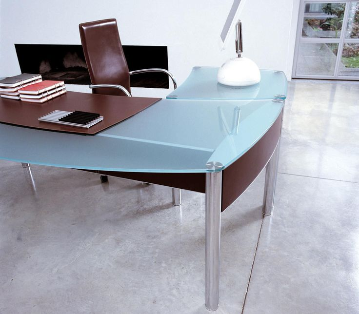 Blue Glass Office Desk - Ideas for Decorating A Desk Check more at http://www.sewcraftyjenn.com/blue-glass-office-desk/