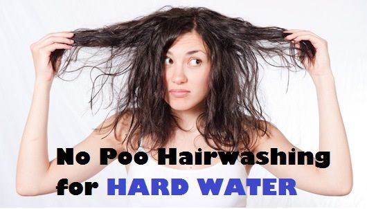 Finally! Someone explains how to go no poo if you are a victim of hard water. Which is, like, everyone in the Midwest.