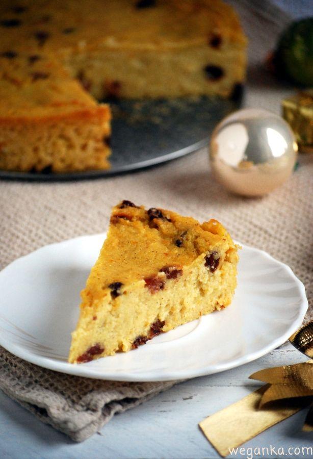 Kuchnia wegAnki: Świąteczny sernik z kaszy jaglanej